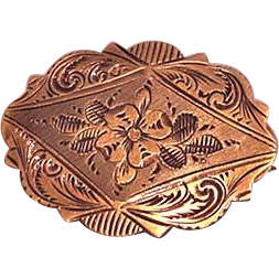Engraved Victorian Pin
