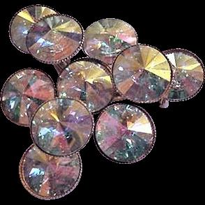Opalescent Rhinestones Pin