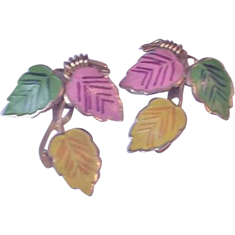 Enameled Dress Clip Set