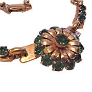 Barclay Green Rhinestone Necklace
