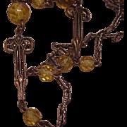 Art Nouveau Glass Beads Chain