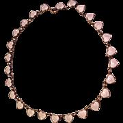 Denmark Sterling Silver Enamel Necklace