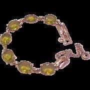 Olivine Glass Vintage Bracelet
