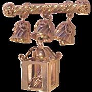 Hanging Lantern and Bells Pin