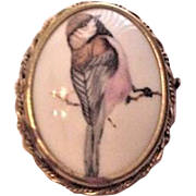 Limoges France Porcelain Bird Pin