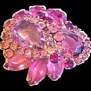 Juliana Pink Rhinestone Pin