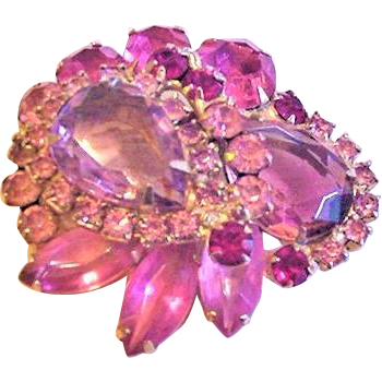 Juliana Pink Rhinestone Pin