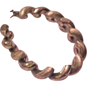 Thick Rope Style Sterling Silver Bracelet
