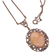 Cameo Sterling Silver Necklace