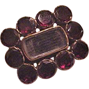 Georgian Garnet and Hair Pin
