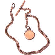 Edwardian Watch Chain Locket Fob