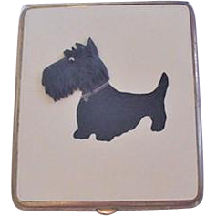 Enamel Scotty Dog Cigarette Case