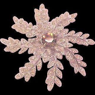 Large Rhinestone Floral Pinwheel Pin