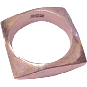 Mexican Silver Square Ring