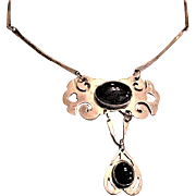 800 Silver and Black Onyx Necklace