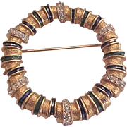 Jomaz Enameled Pin Asymmetrical Wreath