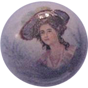 Hat Pin Transferware  Gainsborough Style Woman