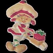 Strawberry Shortcake Doll Vintage Pin