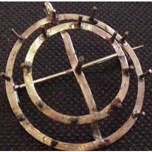 12k Gold Brooch Pin Pendant Frame