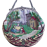 Antique Micro Bead Purse Landscape Proposal Scene