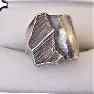 Mid Century Modern Sterling Silver Ring Finland 1976