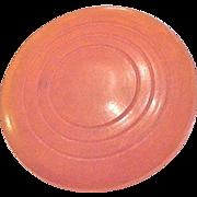 Art Deco Amber Bakelite Target Motif Pin