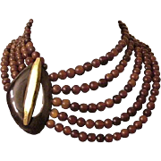 Gerda Lyngaarrdd Monies Horn Bead Strands Necklace