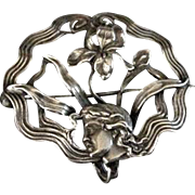 Art Nouveau Sterling Silver Pin