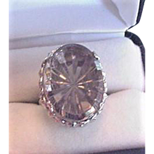 Whiting and Davis Fantasy Glass Ring