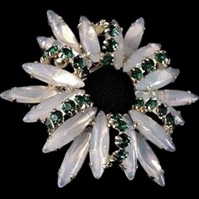 Opalescent Rhinestone  Pin