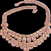 Rhinestone Necklace Crystal Weiss