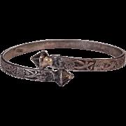 Art Nouveau Silver By Pass Bracelet