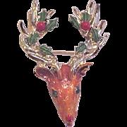 Christmas Reindeer Rudolph Pin