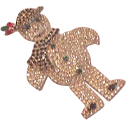 Snowman Rhinestone Pin