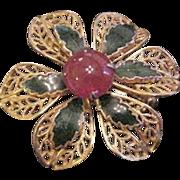 DiNicola Christmas Flower Pin