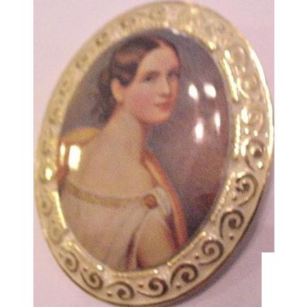 Portrait on Aluminum Pin