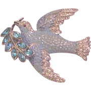 Coro Enamel and Rhinestone Bird Pin