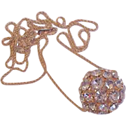 Long Chain Disco Ball Necklace