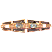 Art Deco Style Rhinestone Pin