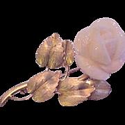 Sterling Silver Vermeil Large Angel Skin Coral Pin