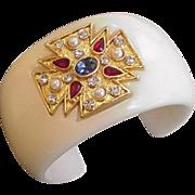 Maltese Cross Rhinestone Bracelet