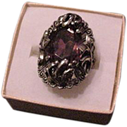 Purple Rhinestone Ring