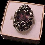 Purple Rhinestone Ring