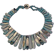 Shades of Turquoise Mother of Pearl Necklace