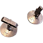 Mid Century Sterling Silver Cufflinks Fenwich and Sailors