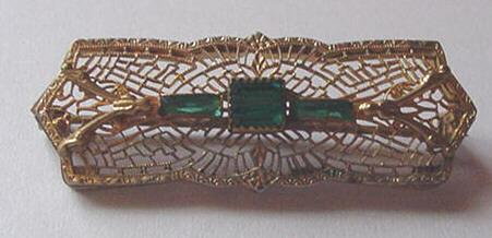 Edwardian Filigree Pin