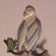 Old Patriotic Enameled Eagle Pin