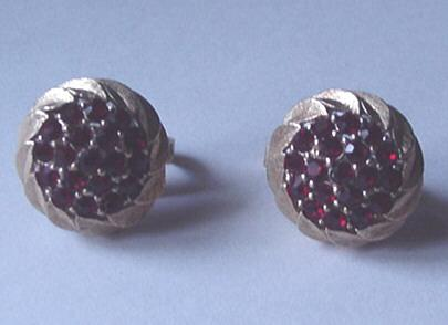 Vintage Trifari Faux Ruby Earrings