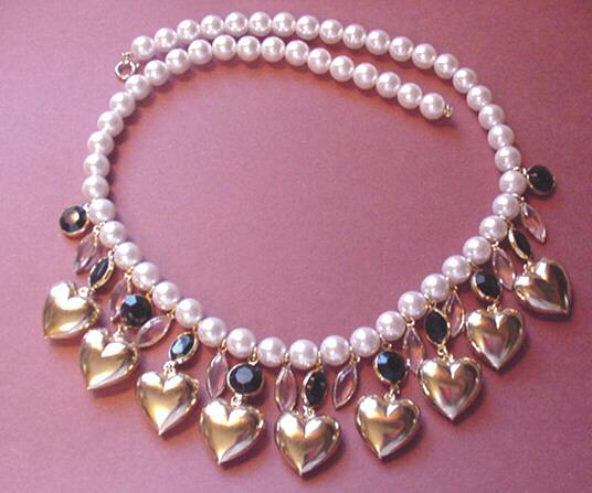 Hearts and Rhinestones Necklace