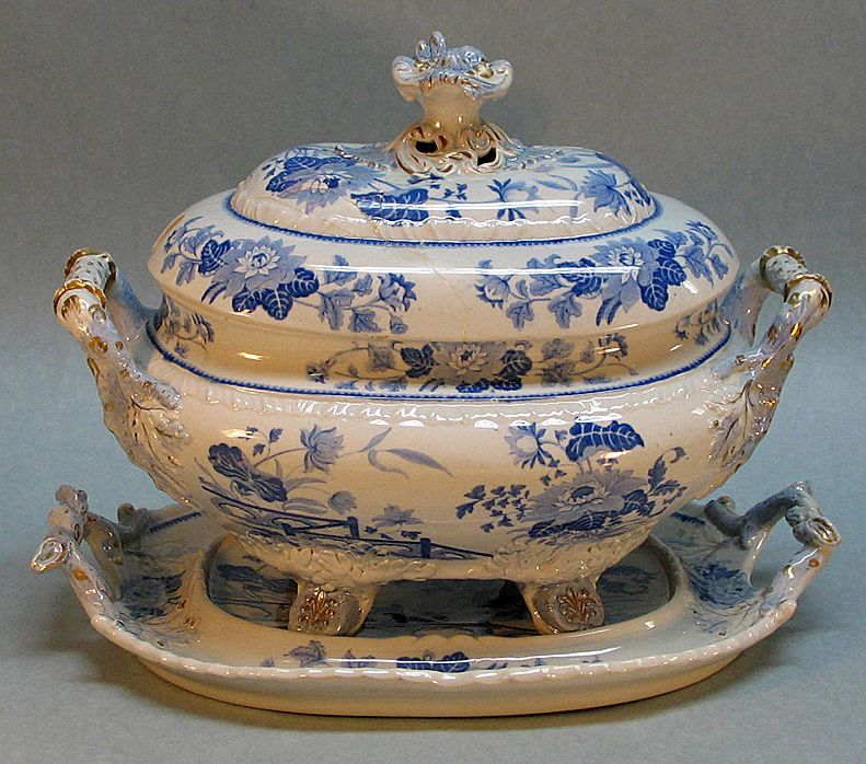 Hicks and Meigh Ironstone Soup Tureen on Stand ca. 1825